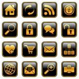 Iconos del Web site y del Internet, serie de oro libre illustration
