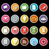 Iconos del web y de Internet con la sombra larga stock de ilustración