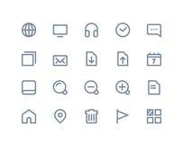 Iconos del Web y de Internet Línea serie Imagenes de archivo