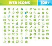 Iconos del Web y de la comunicación fijados. stock de ilustración