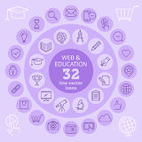 Iconos del web y de la educación Foto de archivo libre de regalías