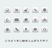 Iconos del Web y de la oficina stock de ilustración