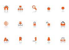 Iconos del Web y de la oficina Fotos de archivo libres de regalías