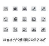 Iconos del Web y de la oficina Foto de archivo libre de regalías