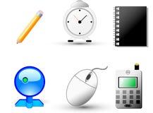 Iconos del Web y del Internet Foto de archivo libre de regalías
