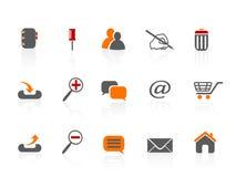 Iconos del Web y del Internet Imagen de archivo