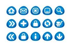 Iconos del Web y del Internet Imágenes de archivo libres de regalías