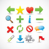 Iconos del Web y del Internet fijados