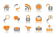 Iconos del Web y del Internet - serie anaranjada ilustración del vector