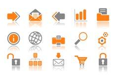 Iconos del Web y del Internet - serie anaranjada stock de ilustración