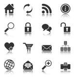 Iconos del Web y del Internet - serie blanca stock de ilustración