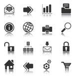 Iconos del Web y del Internet - serie blanca Imágenes de archivo libres de regalías