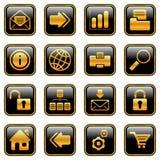 Iconos del Web y del Internet - serie de oro ilustración del vector