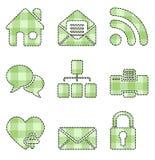 Iconos del Web y del Internet - serie hecha a mano ilustración del vector
