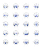 Iconos del Web y del Internet (vector) Imagenes de archivo