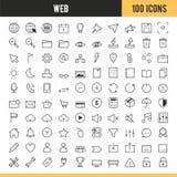 Iconos del web y del uso Ilustración del vector Imagenes de archivo