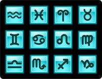 Iconos del zodiaco Fotos de archivo