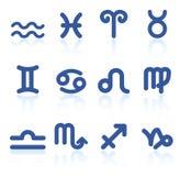 Iconos del zodiaco Fotografía de archivo