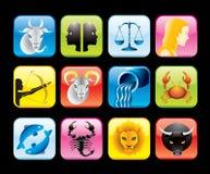 Iconos del zodiaco Imagen de archivo libre de regalías