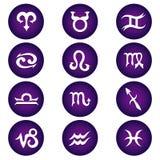 Iconos del zodiaco del vector Fotos de archivo