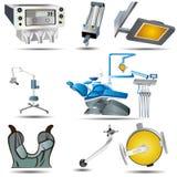 Iconos dentales Imagen de archivo