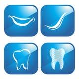Iconos dentales Foto de archivo libre de regalías