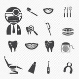 Iconos dentales Fotografía de archivo