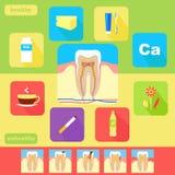 Iconos dentales de la salud Imagen de archivo libre de regalías