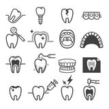 Iconos dentales del diente Vector Foto de archivo libre de regalías