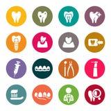 Iconos dentales del tema Fotografía de archivo