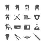 Iconos dentales del vector Fotografía de archivo libre de regalías