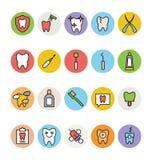 Iconos dentales 2 del vector ilustración del vector