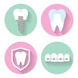 Iconos dentales del vector Fotos de archivo
