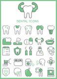 Iconos dentales fijados ilustración del vector
