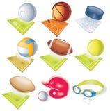 Iconos detallados del deporte del vector ilustración del vector