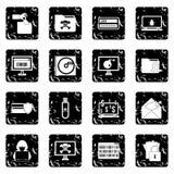 Iconos determinados de la actividad criminal, estilo del grunge libre illustration