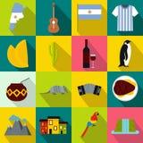 Iconos determinados de la Argentina ilustración del vector