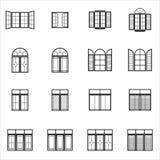 Iconos determinados de la ventana Foto de archivo