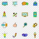 Iconos determinados de Seo Fotos de archivo