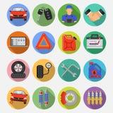 Iconos determinados del vector del servicio del coche Foto de archivo