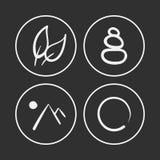 Iconos dibujados mano del zen Foto de archivo