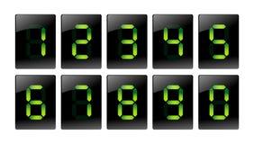 Iconos digitales verdes del número Ilustración del Vector