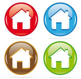 Iconos dimensionales de la casa Imágenes de archivo libres de regalías