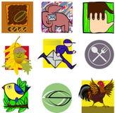 Iconos diversos Fotos de archivo