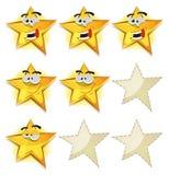 Iconos divertidos de las estrellas para la cuenta de juego de Ui stock de ilustración