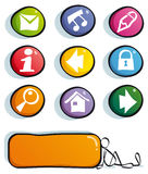 Iconos divertidos del Web Imagenes de archivo