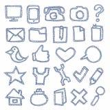 Iconos drenados mano fijados libre illustration