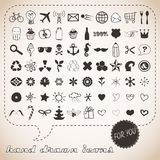Iconos drenados mano fijados para usted Fotos de archivo libres de regalías