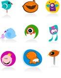 Iconos e insignias del bebé Imágenes de archivo libres de regalías