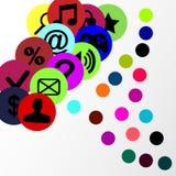 Iconos e insignias del vector Fotos de archivo libres de regalías